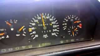 Mercedes W124 E320 acceleration manual 5 speed 2.