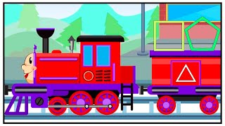 Train Playing Adventures Shapes & Numbers Kids Cartoon