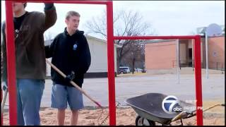Ridgecrest Elementary receives new playground through Eagle Scout service project