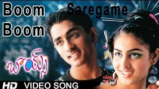 Boom Boom Full Video Song    Boys Movie    Siddharth    Bharath    Genelia    Thaman S.S