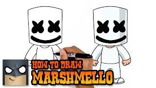 How to Draw Marshmello | Art Tutorial