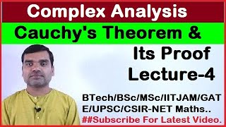 Complex Analysis - Cauchy's Theorem Proof in Hindi(Lecture4)