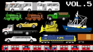 Vehicles Collection Volume 5 - Railway, Water, & Street Vehicles - The Kids