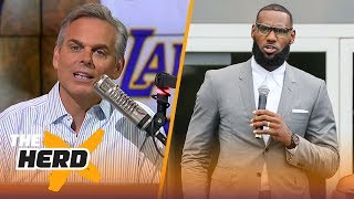 Colin Cowherd reacts to President Donald Trump
