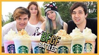 STARBUCKS CHALLENGE - Popular YouTube Challenges - BFGF Battles
