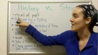 Diferencia entre STORY y HISTORY en Inglés - What's the difference?
