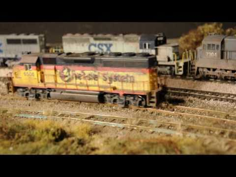 HD video Very realistic model railroad with awful track .wmv