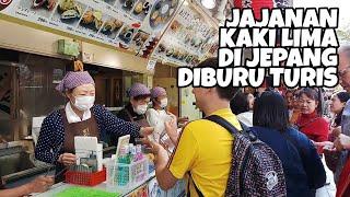 DI GANG NAKAMISE BANYAK JAJANAN KAKI LIMA YANG ENAK & UNIK !! JAPAN STREET FOOD