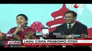 Titiek Soeharto Senandungkan Lagu Cinta Berbahasa Mandarin di Hadapan Prabowo