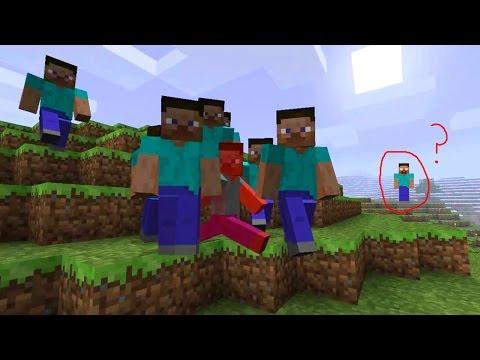 Minecraft Secret Hostile Steve Mob Herobrine Sighting