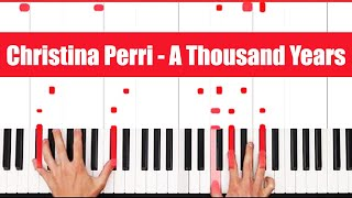 A Thousand Years Christina Perri Piano Tutorial – EASY