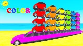 Learn NUMBERS & COLORS cars w spiderman cartoon for kids w learning video for children