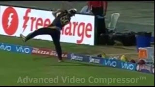 Spectacular Catch By Chris Lynn | IPL T20 2016 | MI Vs KKR