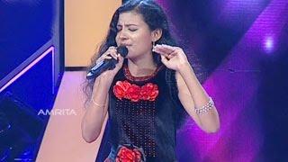 Super Star Junior 5   Anjana Singing 'Nisha Surabhi…'( Ivan Megharoopan movie)