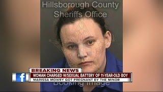 Woman who got pregnant by 11YO arrested