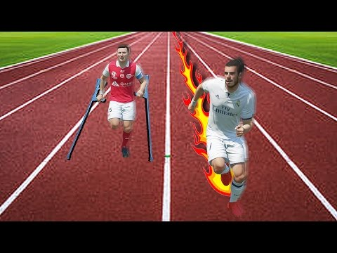 FIFA 17 Speed Test:  Fastest Player Vs Slowest Player