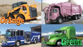 Colors for Children to Learn with Street Vehicles Learning Colors and Vehicles Names for Kids