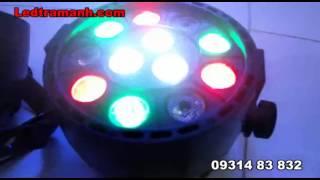 Đèn led sân khấu, đèn par 12W, đèn led cảm ứng nhạc
