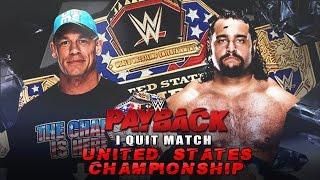 Zack Pod John Cena Vs Rusev I Quit match Payback 2015