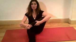 Lotus pose prep and hip opening