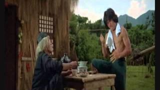 Jackie Chan cracking walnuts