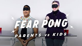 Parent vs. Kid - Aaron & Shirley   Fear Pong   Cut