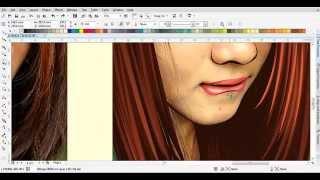 tutorial vector corel draw x7 : menggambar gadis manis berrambut kemerah merahanan(real speed)