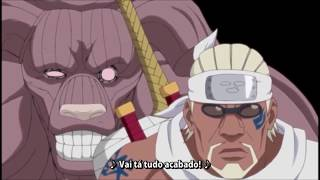 Naruto,Killer Bee,Gai,Kakashi Vs Bijuus Legendado em Português