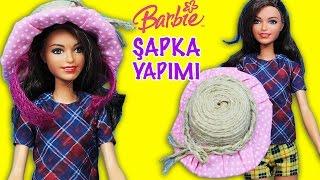 Barbie Oyuncak Bebek Yazlık Şapka Yaptım   Nasıl Yapılır   Oyuncak Butiğim
