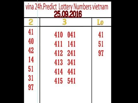 vina 24h Predict  Lottery Numbers vietnam 25 09 16.ល្ងាច
