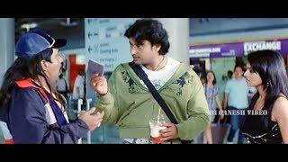 Darshan stole heroine Passport in Flight | Om Prakash Rao | Abhay Movie | Kannada Comedy Scenes