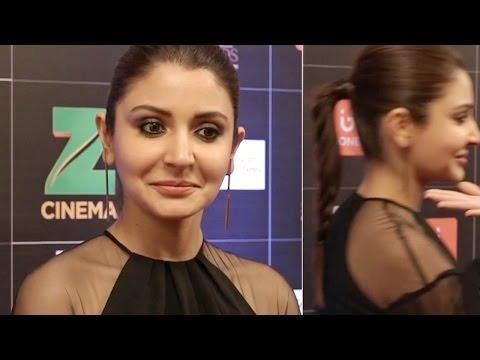 Anushka Sharma walks away when asked about Virat Kohli @ Zee Cine Awards 2017