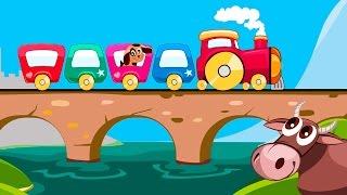 Мультик для детей про поезд друзей. Мультфильм для самых маленьких. Песенки для детей.