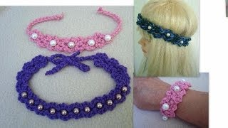 Download DIY,  Crochet Pearl Headband, or Bracelet 3Gp Mp4