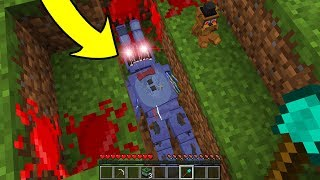 DESENTERREI OS ANIMATRONICS DEPOIS DE 1000 ANOS NO MINECRAFT!! (FIVE NIGHTS AT FREDDY