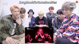 BTS reaction to BLACKPINK 'YONCÉ' [FMV]