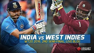 India vs West Indies Semi Final - T20 World Cup 2016 - Live