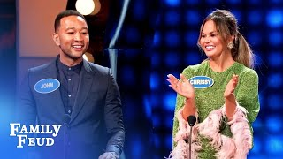 OH MY! Here's how Chrissy Teigen and John Legend met!   Celebrity Family Feud