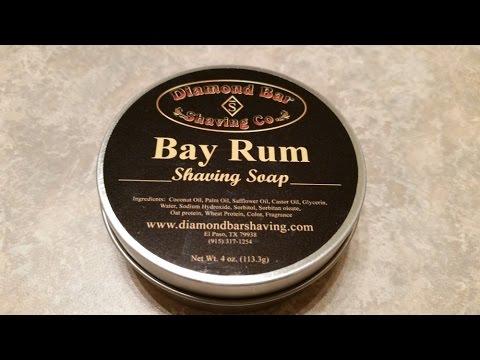 Vintage Shave - Diamond Bar - Bay Rum, Gem Featherweight