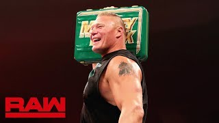 Brock Lesnar celebrates his Money in the Bank contract win: Raw, May 20, 2019