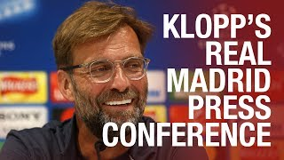 Klopp's Champions League final press conference   Real Madrid