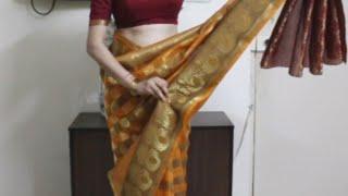 How To Wear South Indian Saree-Simple Saree Draping Method Tutoril *