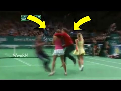 Tennis Craziest Court Invaders Naked Sneakers Kissing Players and More