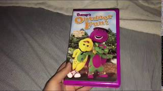 I Do Not Own Barney's Outdoor Fun! 2003 VHS Side Label 600 When I Was Little!