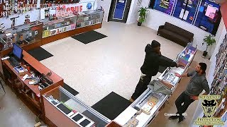 Store Owner Takes the Fight to Robber...Twice! | Active Self Protection