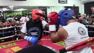 FLOYD MAYWEATHER DESTROYS SPARRING PARTNERS 8/26/15 HoopJab Mayweather vs Mcgregor