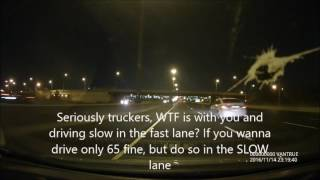 How to deal with asshole truckers in the fast lane