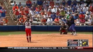 04/27/2013 Georgia vs Florida Softball Highlights