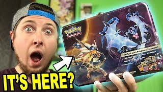 NEW NECROZMA COLLECTORS CHEST POKEMON TIN OPENING! Early Promo Cards!