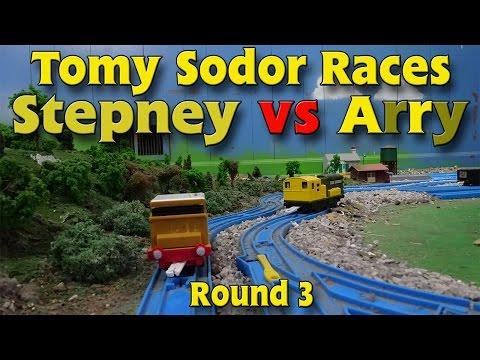 Tomy Sodor Races Stepney vs Arry Round 3